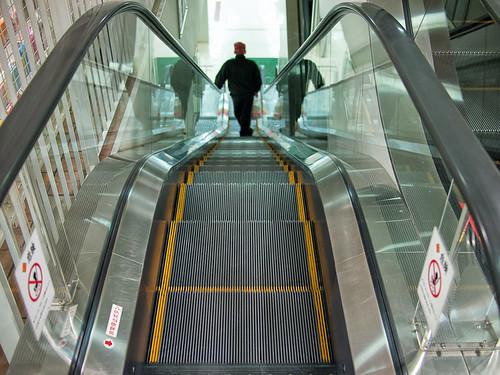 narrow escalator