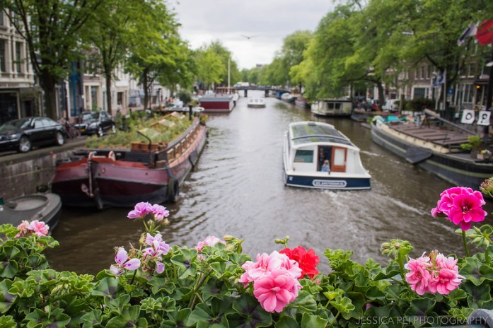 Amsterdam Canal Flowers