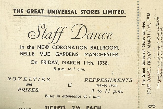 Great Universal Stores Limited Staff Dance, Belle Vue, 11 Mar 1938