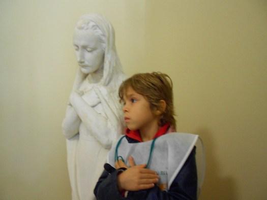 Madonna della pace di Virgilio Milani e Livia per la FAI Marathon