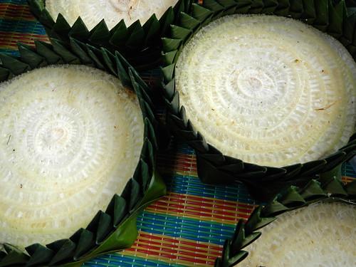 Loi Krathong Lantern Base Made from Slices of Banana Stem, Bangkok