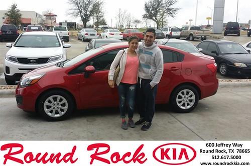 Congratulations to Samantha Vasquez on your #Kia #Rio purchase from Eric Armendariz at Round Rock Kia! #NewCar by RoundRockKia