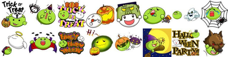 03_WeChat「Halloween Bubbles」16款奇裝異服的萬聖節系列阿We小Chat動態等你來收藏!