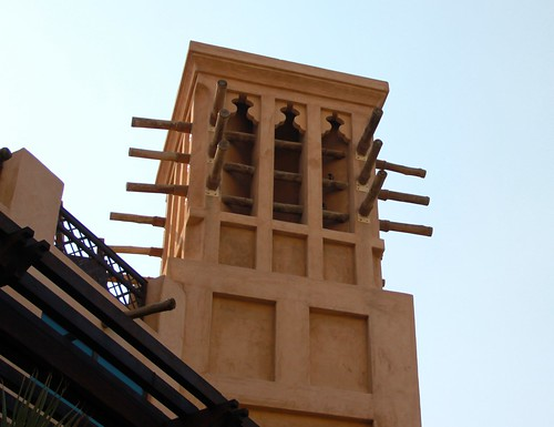 Traditional Towers to Channel Cooling Wind in Dubai