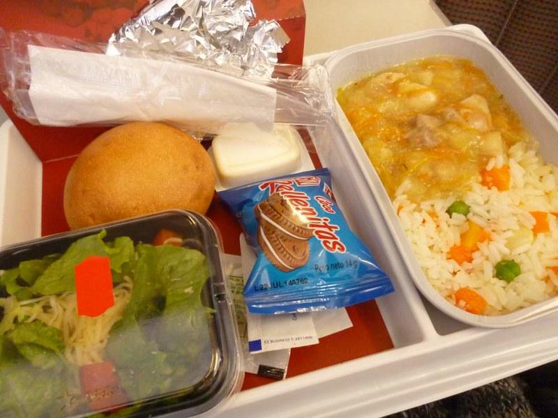 TACA Airline food