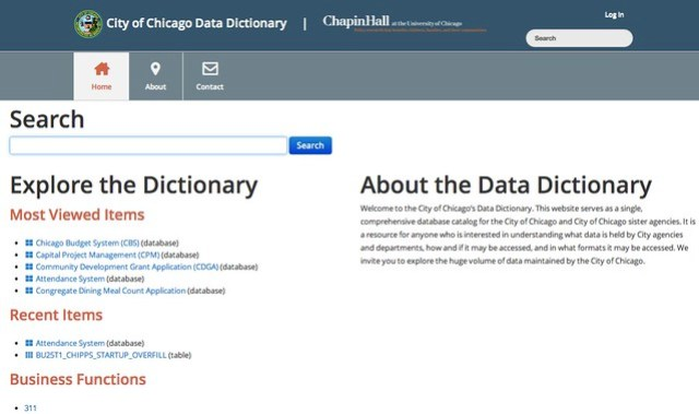 Chicago launches first comprehensive, public data dictionary - GovFresh