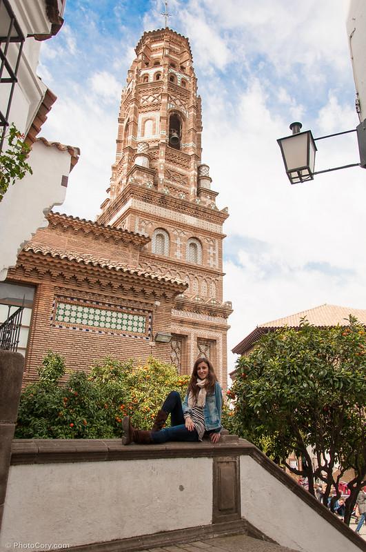 tower in El Poble Espanyol