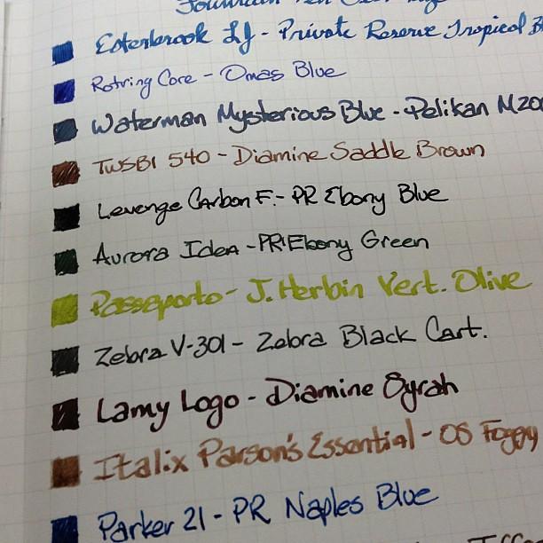 #TWSBI notebook #fountainpen test.