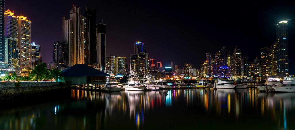 Panama City at night Panama  Long exposure of Panama city c  Flickr