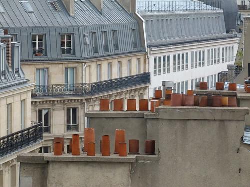 Paris rooftop pots