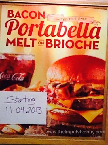 Wendy's Bacon Portabella Melt on Brioche