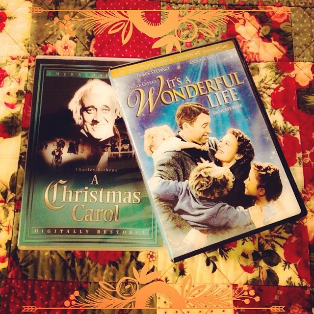 Dec 20 - tradition {it's an annual tradition to watch these two classics during the holiday season. #photoaday #tradition #movies #classics #itsawonderfullife #christmascarol #rhonnadesigns