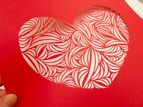 Heart paper cut work-3