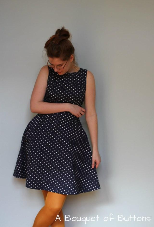 Knipmode, jurk, dress, polka dot