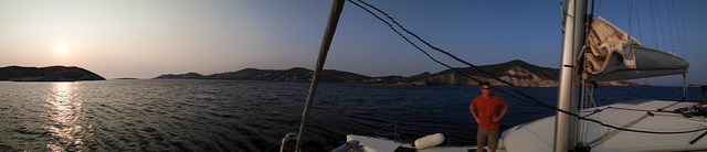 Beautiful spot to moor for the evening - between Antiparos and Despotiko