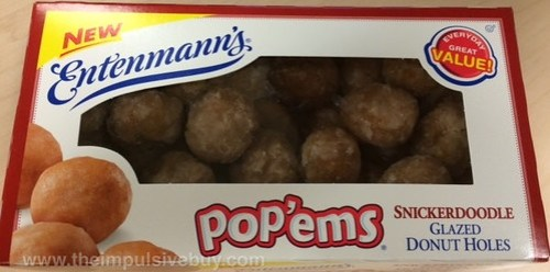 Entenmann's Pop'ems Snickerdoodle Glazed Donut Holes