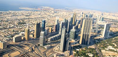 Sheik Zayed Road Skyscrapers in Dubai