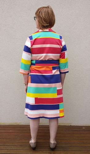 Lekala 5806 in poly/viscose/lycra knit from Darn Cheap Fabrics