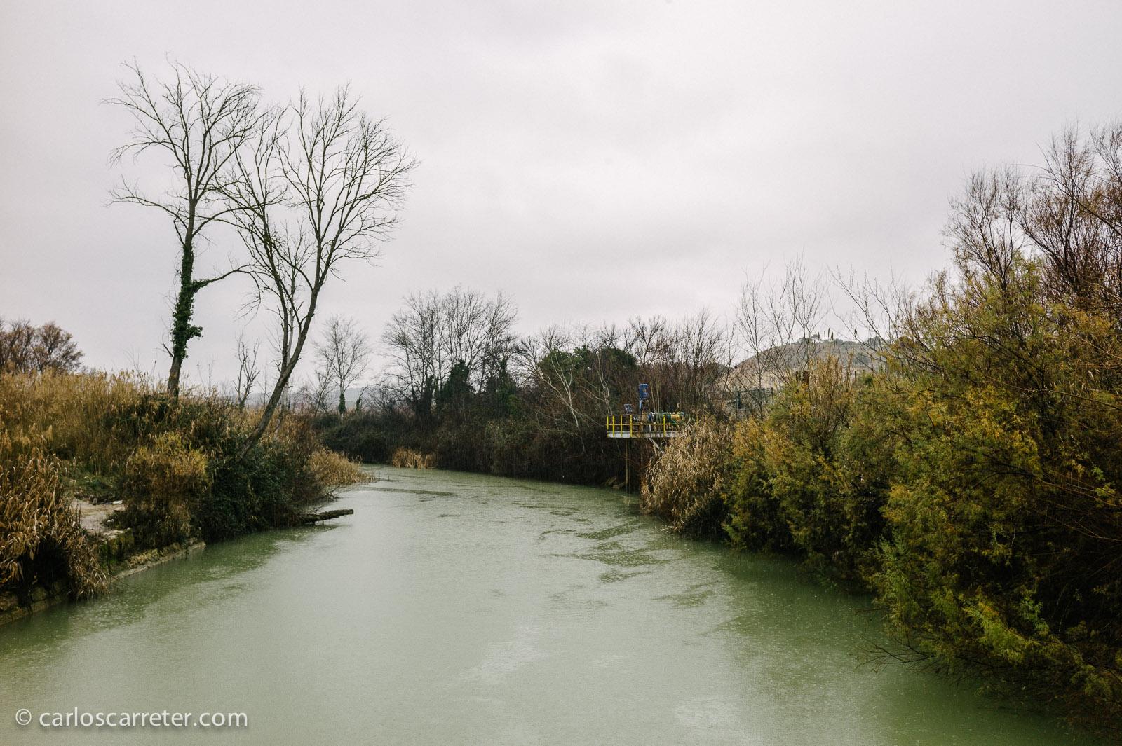 Brazo del río Ebro en el monasterio de Rueda