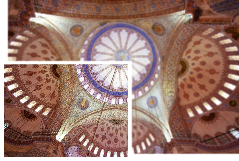 Blue Mosque interior, example of how much you would see with a 50mm lens.