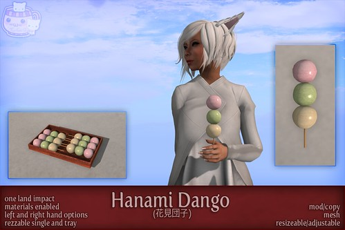 c( TC ) Hanami Dango (poster) by Sei / {Lemon Tea} / c( Two Cats )