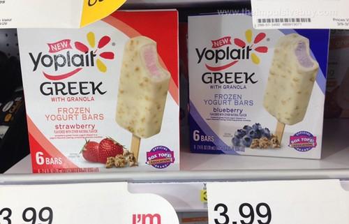 Yoplait Greek with Granola Frozen Yogurt Bars