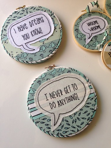 Mo Willems Pigeon embroidered hoops set