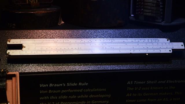 Von Braun's Slide Rule