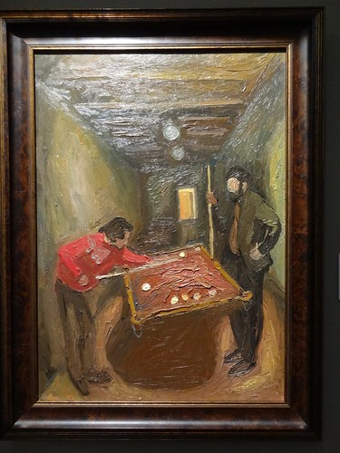 Playing billiards in Ulanovo, by Viktor Popkov. (1974).