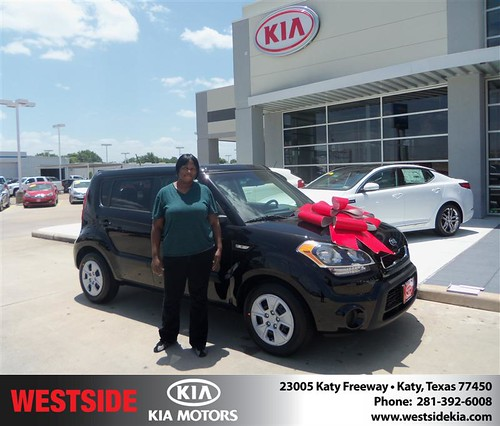 Westside KIA Houston Texas Customer Reviews and Testimonials - Washita McCoy by Westside KIA