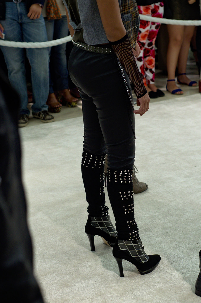 Black leather jeans and boots