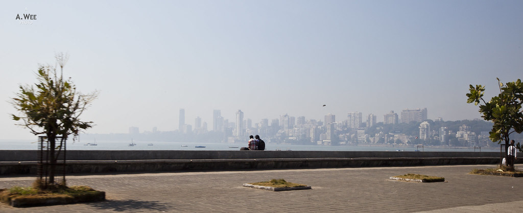 Promenade with a view of Mumbai's Skyline