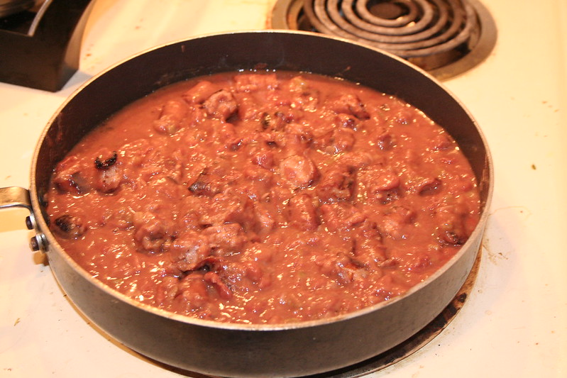 Red Beans and Rice with Cornbread via Lazy Lady