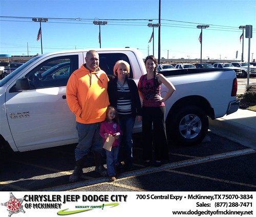 Thank you to Tiffany Kindle on your new 2013 #Ram #1500 from Stevie Parham and everyone at Dodge City of McKinney! #NewCar by Dodge City McKinney Texas