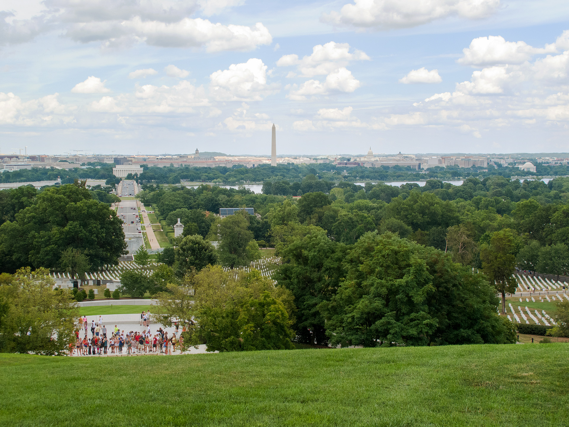 View of Arlington National Cemetery from Arlington House.