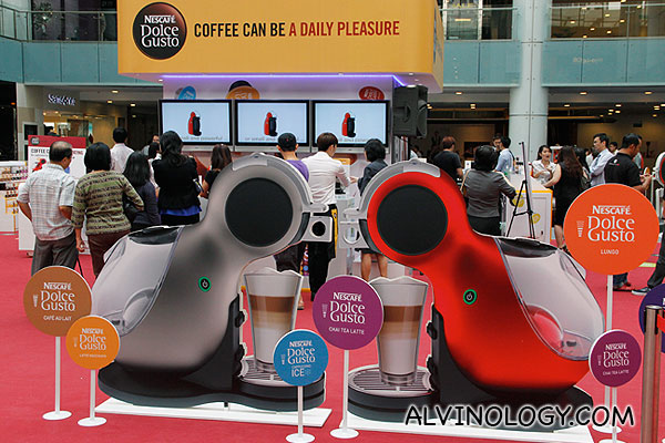 Nescafe Dolce Gusto roadshow in Marina Square earlier this year
