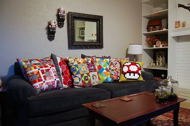 Couch Full of Pillows