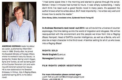 Andreas Norman, Into a Raging Blaze