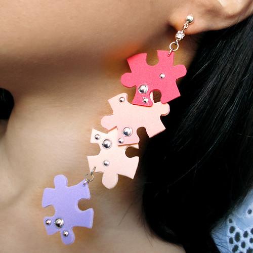 Orecchini Puzzle by bibidicreazioni