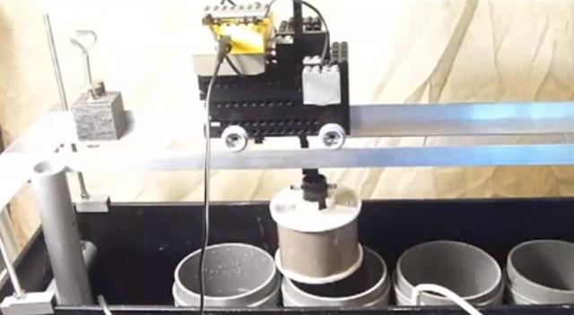 Maquina de revelado semiautomatica usando lego mindstorms
