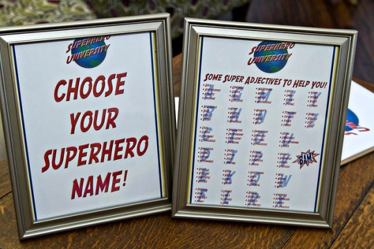 choose your superhero name