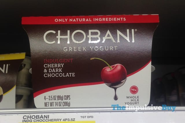 Chobani Indulgent Cherry & Dark Chocolate Greek Yogurt