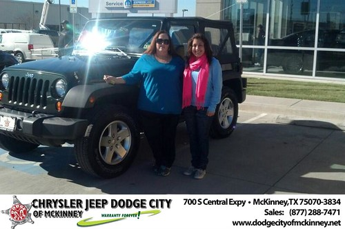 Thank you to Isidro Tanguma on your new 2011 #Jeep #Wrangler from Bobby Crosby and everyone at Dodge City of McKinney! #NewCarSmell by Dodge City McKinney Texas