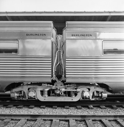 [Coupled Passenger Cars from 'Texas Zephyr', with Diaphragm]