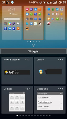 Home screen ทำหน้าที่เป็น App tray ไปในตัว แทรก Widget ในหมู่ App shortcut ได้