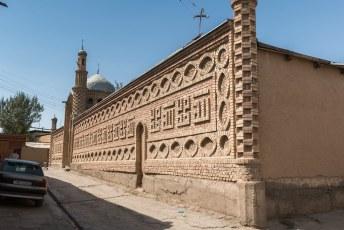 Deze moskee bijv. ook, incl. teksten in de gevel in baksteenschrift.