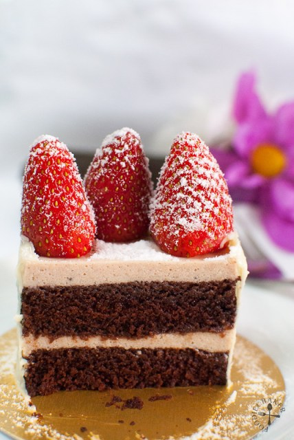 Layer Chocolate Strawberry Cake