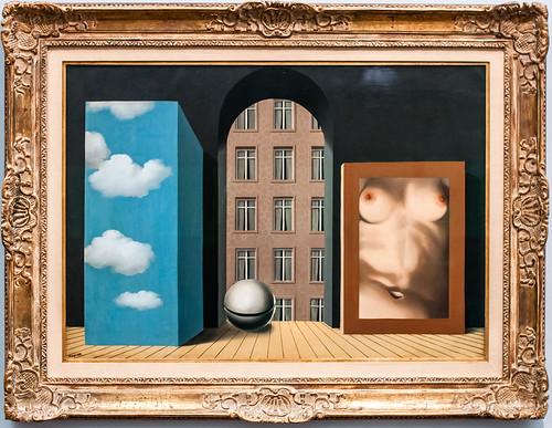 Rene Magritte painting. Groeningmuseum, Bruges