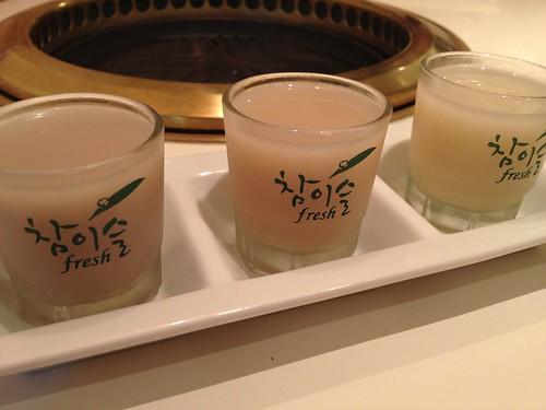 マッコリ飲み比べ@TEJI TOKYO 渋谷店