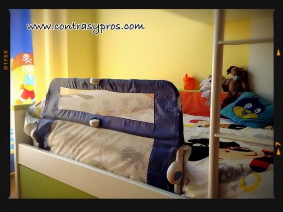 Barrera para cama de los niños